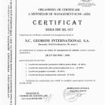 certificat AFER ISO 9001valabil 04 2016