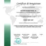 certificat management sanatate si securitate OHSAS 18001
